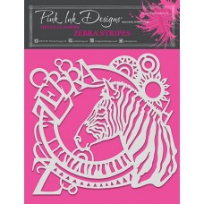 Pink Ink Designs - Zebra Stripes Stencil