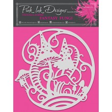 Pink Ink Designs - Fantasy Fungi Stencil