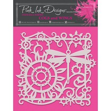 Pink Ink Designs - Cogs and Wings Stencil