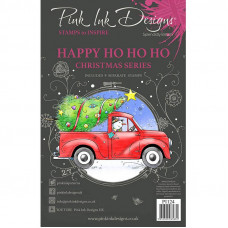 Pink Ink Designs - Happy Ho Ho Ho - A5 Clear Stamp