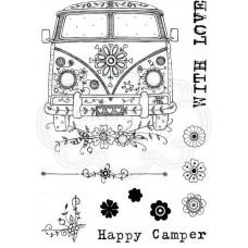 Pink Ink Designs A6 Clear Stamp Set - Campervan