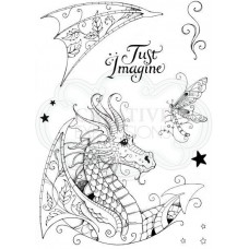 Pink Ink Designs A5 Clear Stamp Set - Dragon - DISPATCHING THURSDAY 29th AUGUST