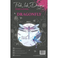 Pink Ink Designs A5 Clear Stamp Set - Dragonfly