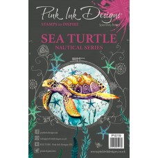 Pink Ink Designs A5 Clear Stamp - Sea Turtle