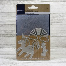 Presscut Embossing Folder and Die Set - Unicorn Dreams