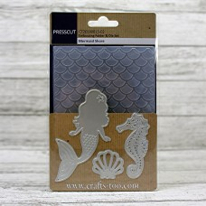 Presscut Embossing Folder and Die Set - Mermaid Shore
