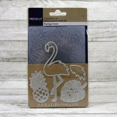 Presscut Embossing Folder and Die Set - Flamingo Forest
