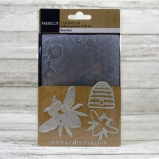 Presscut Embossing Folder and Die Set - Bee Hive