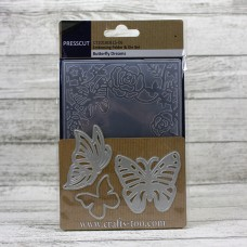 Presscut Embossing Folder and Die Set - Butterfly Dreams