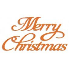 Presscut Die - Merry Christmas
