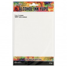 Ranger Tim Holtz Alcohol Ink Yupo Cardstock White 5 x 7 – pk 10 - DISPATCHING WEDNESDAY 12th AUGUST