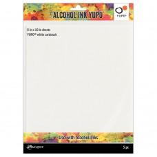 Ranger Tim Holtz Alcohol Ink Yupo Cardstock White 8 x 10 – pk 5