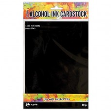 Alcohol Ink Matte Black Cardstock