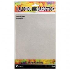 Alcohol Ink Silver Sparkle Cardstock
