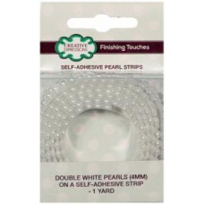 Self-Adhesive Pearl Strips - Double White