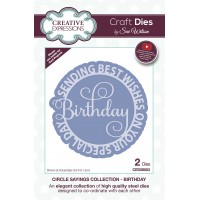 January Collection - Circle Sayings - Birthday