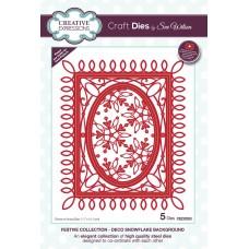 Sue Wilson - 2020 Festive Collection – Deco Snowflake Background