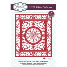 Sue Wilson - 2020 Festive Collection – Deco Trees Background