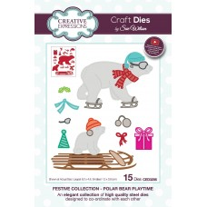 Sue Wilson - 2020 Festive Collection – Polar Bear Playtime