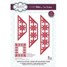Sue Wilson - 2020 Festive Collection – Snowflake Adjustable Frame