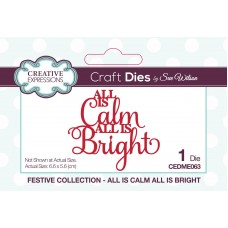Sue Wilson - 2020 Festive Collection – All Is Calm All Is Bright