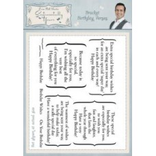 Bracket Birthday Verses A5 Stamp Set