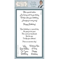 Swirly Birthday Verses Clear Stamp Set