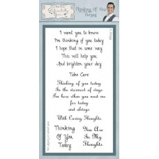 Thinking Of You Verses Clear Stamp Set