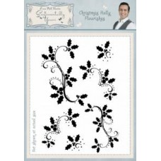 Christmas Holly Flourishes A5 Clear Stamp Set