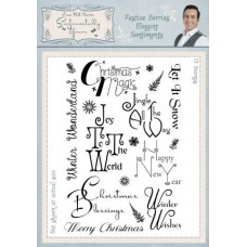 Festive Berries Elegant Sentiments A5 Clear Stamp Set
