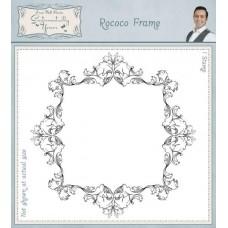 Rococo Frame Pre Cut Rubber Stamp