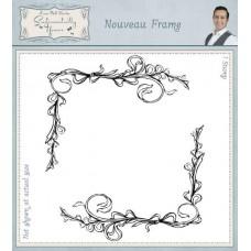 Nouveau Frame Pre Cut Rubber Stamp