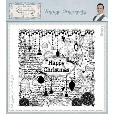 Square Collage Stamp - Vintage Ornaments
