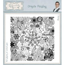 Square Collage Stamp - Ornate Paisley