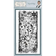 DL Rubber Stamp - Snowflakes