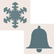 Sentimentally Yours 6 x 6 Aperture Stencils - Snowflake & Bell