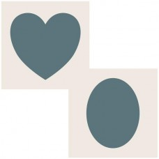 Sentimentally Yours 6 x 6 Aperture Stencils - Heart/Oval