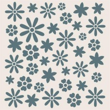 Sentimentally Yours 8 x 8 Stencil - Summer Meadow