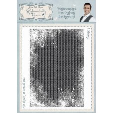 Whitewashed Herringbone A6 Background Stamp