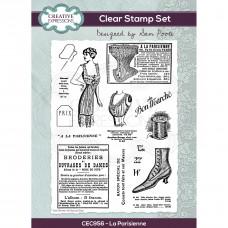 Sam Poole - La Parisienne A5 Clear Stamp Set