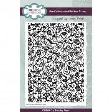 Sam Poole - Shabby Fleur A6 Pre Cut Rubber Stamp