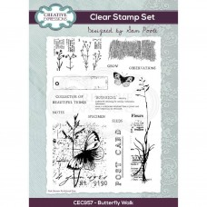 Sam Poole - Butterfly Walk A5 Clear Stamp Set - DISPATCHING THURSDAY 28th JANUARY