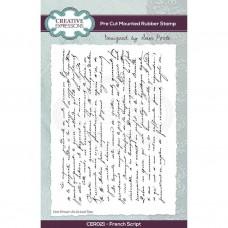 Sam Poole - French Script A6 Pre Cut Rubber Stamp