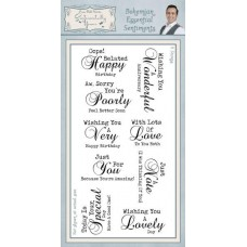 Bohemian Essential Sentiments DL Clear Stamp