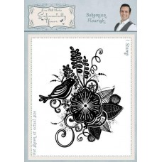 Bohemian Flourish A6 Rubber Stamp