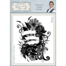 Bohemian Vintage Banner A6 Rubber Stamp