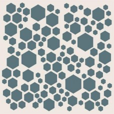 Sentimentally Yours 8 x 8 Stencil - Scattered Hexagons