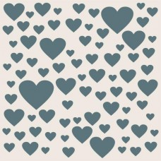 Sentimentally Yours 8 x 8 Stencil - Scattered Hearts