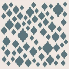 Sentimentally Yours 8 x 8 Stencil - Scattered Moroccan Tiles