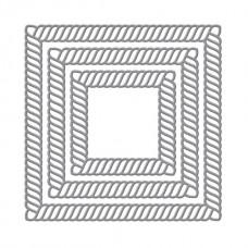 Spellbinders - Elegant Twist Squares Etched Dies